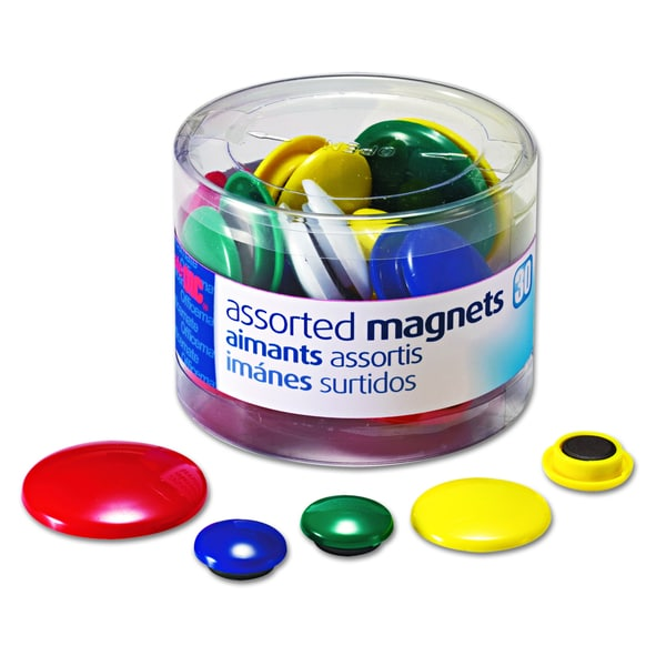 Officemate Assorted Magnets (Tub of 30)