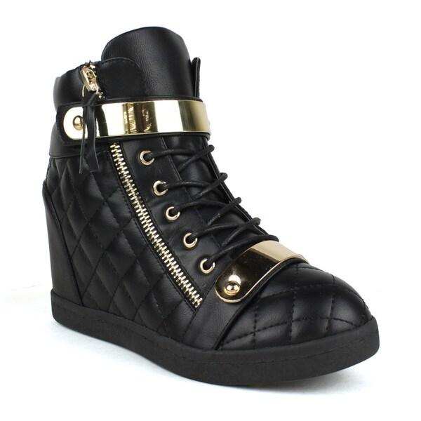 Fahrenheit Women's Quilted Women's Wedge Sneakers