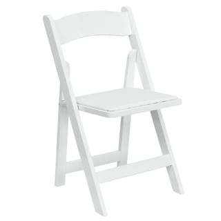 Helicon White Wood Folding Chairs