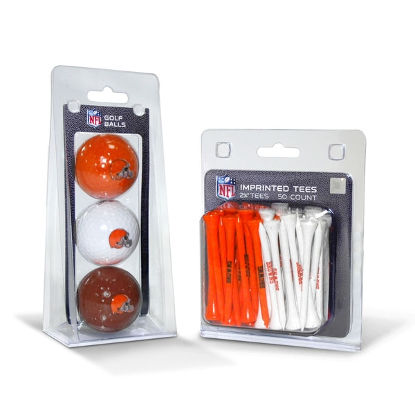 Cleveland Browns NFL Golf Ball and Tee Set