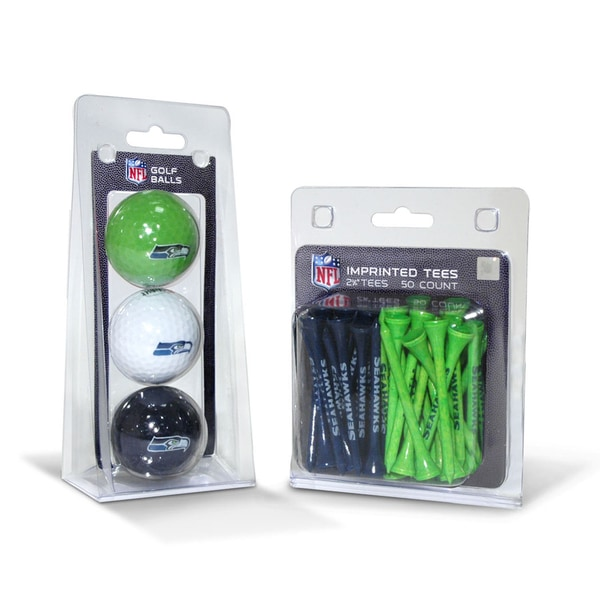 Seattle Seahawks NFL Golf Ball and Tee Set