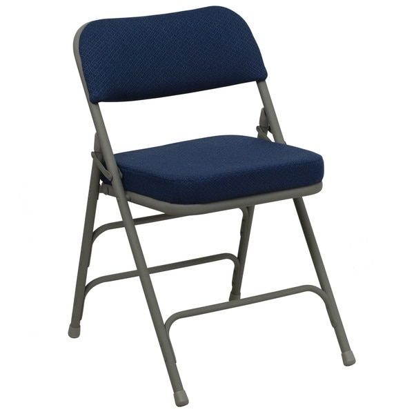 Heather Blue Cushioned Seat Folding Chairs