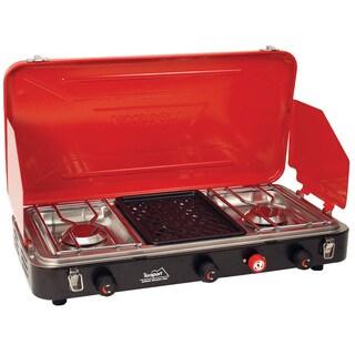 Tex Sport Propane Stove 2-Burner with Grill