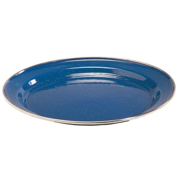 Tex Sport Enamel Plate 10-inch Dinner Stainless Steel Rim