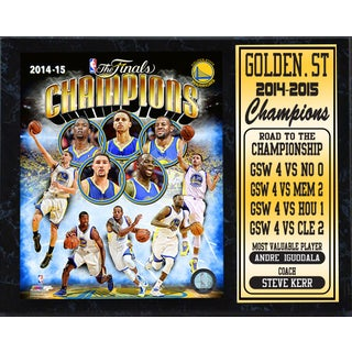 12x15 Stat Plaque - 2015 NBA Champions Golden St. Warriors