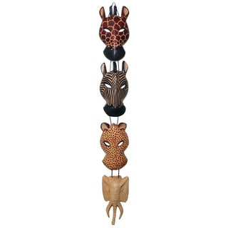 Animal Wood Wall Hanging , Handmade in Kenya