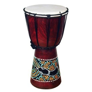 Jembe Drum with a Paint Dropper (Indonesia)