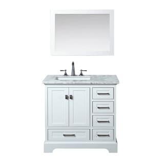Fine Fixtures Petite 18 Inch Wood White Bathroom Vanity