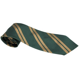 Chopard 100-percent Silk Regiment Bottle Green/ Beige Neck Tie