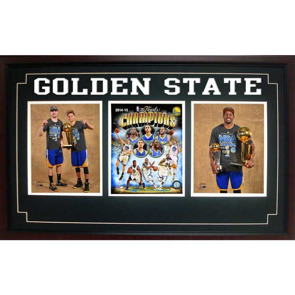 Three Photo Frame - 2015 NBA Champions Golden St. Warriors