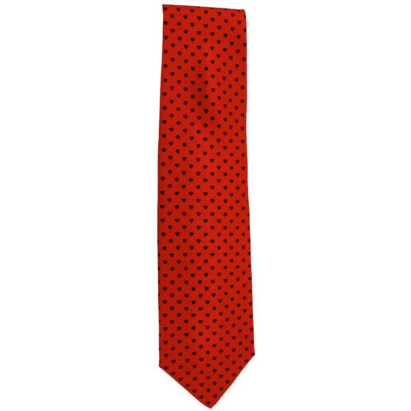 Chopard 100-percent Silk Red/ Blue Heart Neck Tie