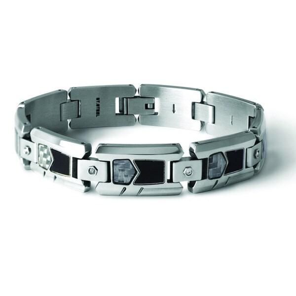 Tonino Lamborghini Imprinting White Carbon Fiber Bracelet