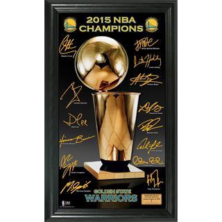 "Golden State Warriors 2015 NBA Finals Champions ""Trophy"" Signature Photo"