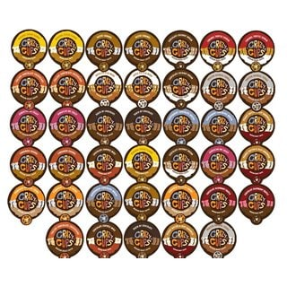 Crazy Cups Variety Sampler Pack of Single Serve Coffee K-cups (40 Count)