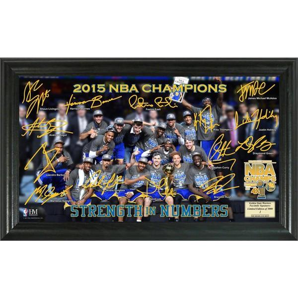 Golden State Warriors 2015 NBA Finals Champions Celebration Signature Court
