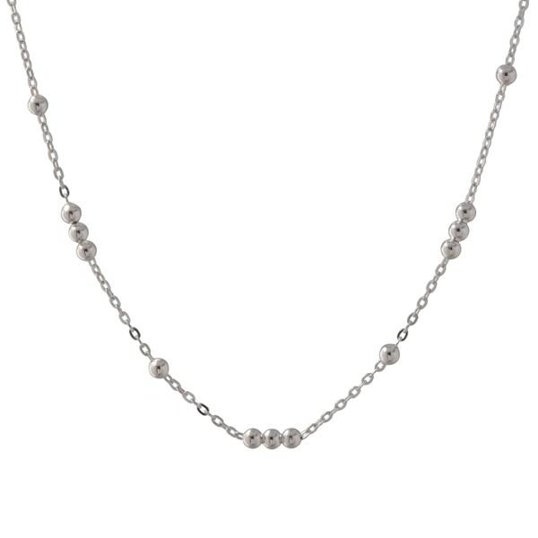 Sterling Silver Italian Bead Station Bracelet
