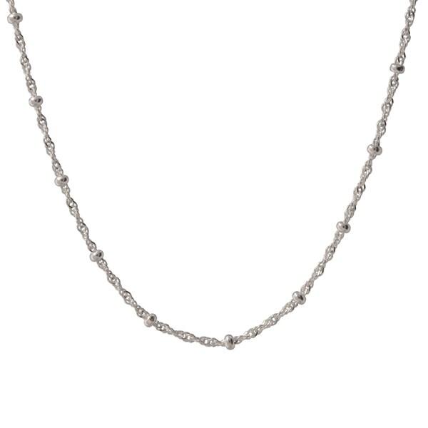 Sterling Silver Italian Bead Station Singapore Bracelet