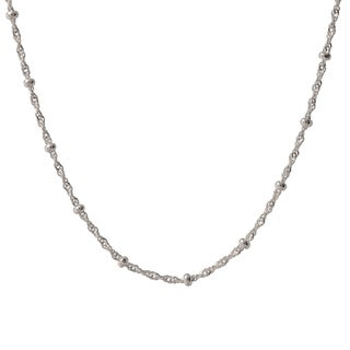 Sterling Silver Italian Bead Station Singapore Necklace