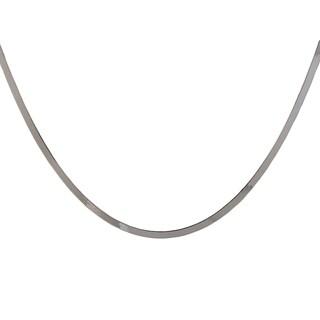 Sterling Silver Italian 3.6mm Flat Herringbone Necklace