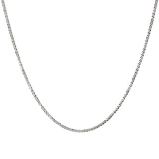 Sterling Silver Italian 24-inch Twisted Margherita Chain Necklace