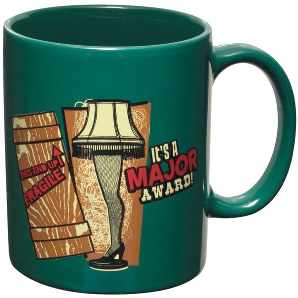 It's A Major Award A Christmas Story Leg Lamp Green Coffee Mug