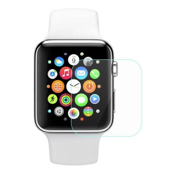 Insten Clear Tempered Glass LCD Smart Watch Screen Protector Film Cover For Apple Watch 38mm