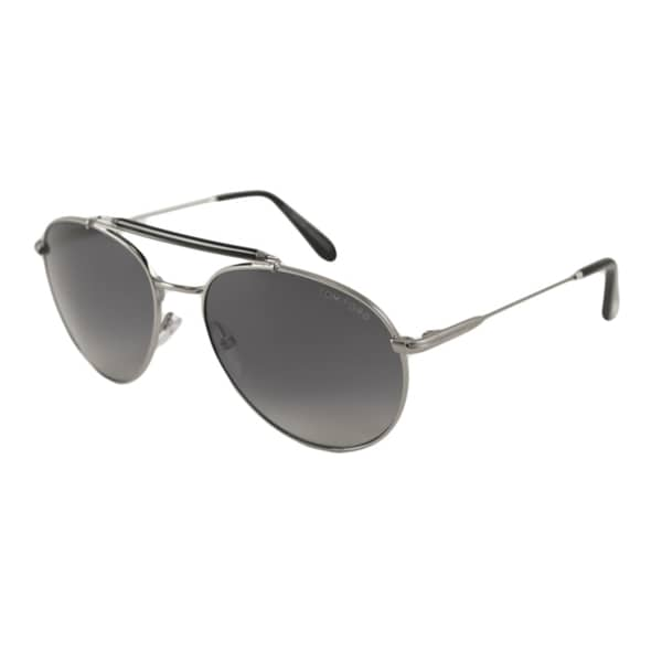 Tom Ford Mens TF0338 Colin Aviator Sunglasses