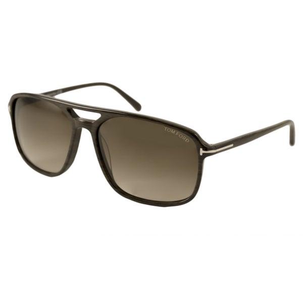 Tom Ford Mens TF0332 Terry Rectangular Sunglasses