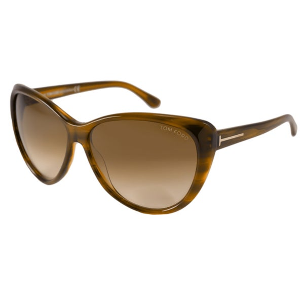 Tom Ford Womens TF0230 Malin Cat-Eye Sunglasses