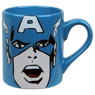 Captain America Face Ceramic 14-ounce Coffee Mug