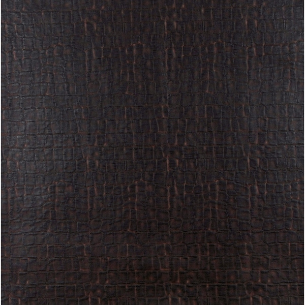 G261 Dark Brown, Crocodile Upholstery Faux Leather By The Yard