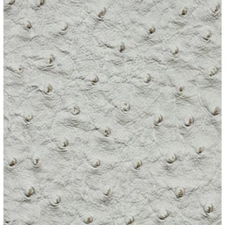 G233 Light Grey, Textured Faux Ostrich Upholstery Vinyl By The Yard