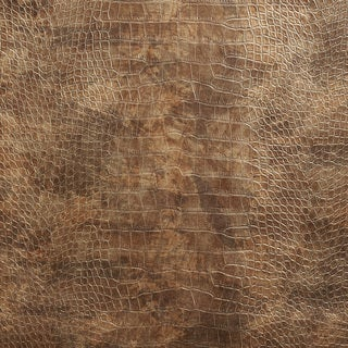 G046 Bronze Brown, Metallic Alligator Faux Leather Upholstery Vinyl By The Yard