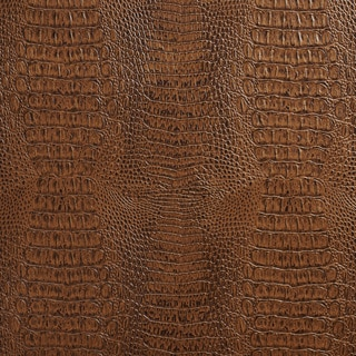 G036 Brown, Crocodile Faux Leather Upholstery Vinyl By The Yard