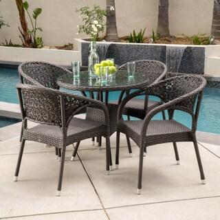 Christopher Knight Home Starburst Outdoor 5-piece Wicker Dining Set