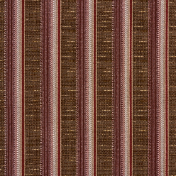 A368 Contemporary Red Pink and Brown Striped Tweed Upholstery Fabric By The Yard
