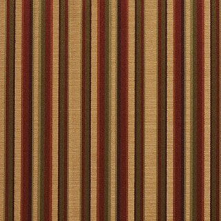 B0230b Burgundy Gold Green Shiny Striped Silk Look Upholstery Fabric