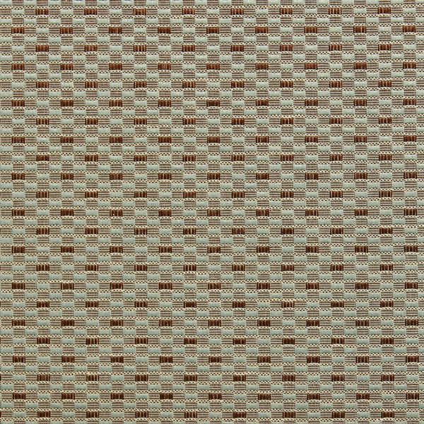 B0210e Teal Copper Small Rectangle Check Silk Look Upholstery Fabric By The Yard