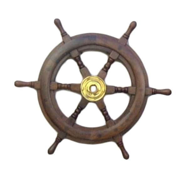 15-inch Wooden Ship Wheel