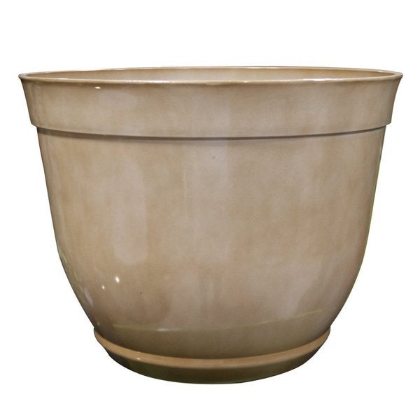 Large Cream Outdoor Bowl Planter