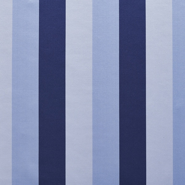 B0110f Navy Light Blues Thick Stripes Silk Look Upholstery Fabric By The Yard