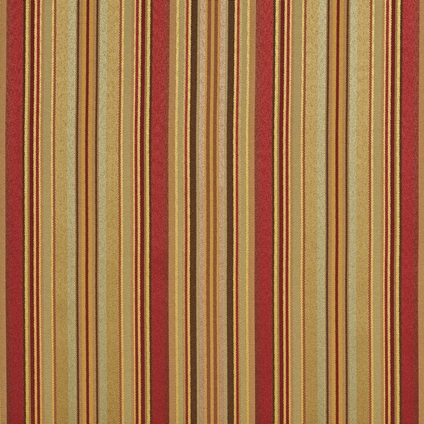 B0160g Sage Green Red Gold Shiny Striped Silk Look Upholstery Fabric By The Yard