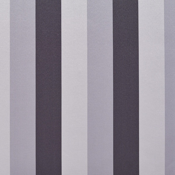 B0110h Black Silver Thick Stripes Silk Look Upholstery Fabric By The Yard