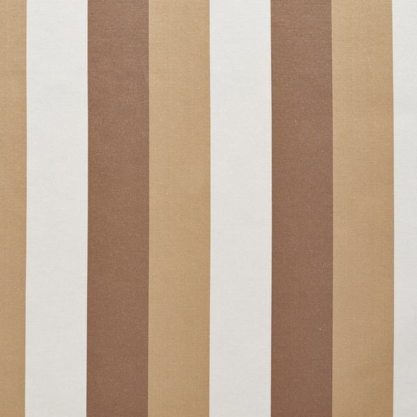 B0110d Beige White Taupe Thick Stripes Silk Look Upholstery Fabric By The Yard
