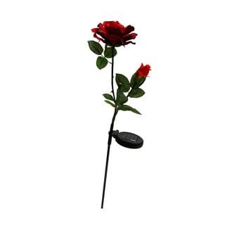 Solar Red Rose Garden Stake