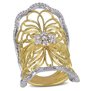 Miadora 18k Yellow Gold 1 1/8ct TDW Diamond Ring (G-H, SI1-SI2)