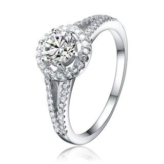 Collette Z Sterling Silver Cubic Zirconia Fancy Ring