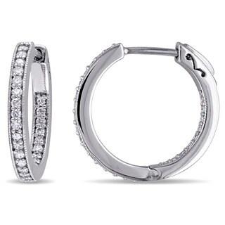 Miadora 10k White Gold 1/2ct TDW Diamond Earrings (G-H, I2-I3)