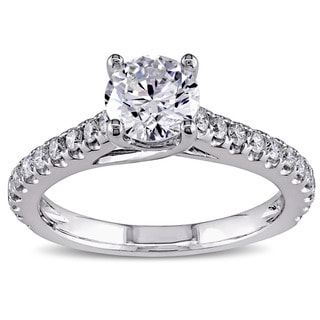 Miadora Signature Collection 14k White Gold 1 1/2ct TDW Diamond Engagement Ring (G-H, SI2-SI3)