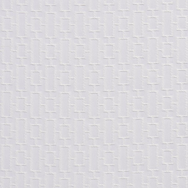 A0250a White Connected Rectangles Silk Satin Look Upholstery Fabric By The Yard